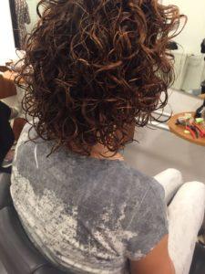 Actuelle Haarmode krulknippen